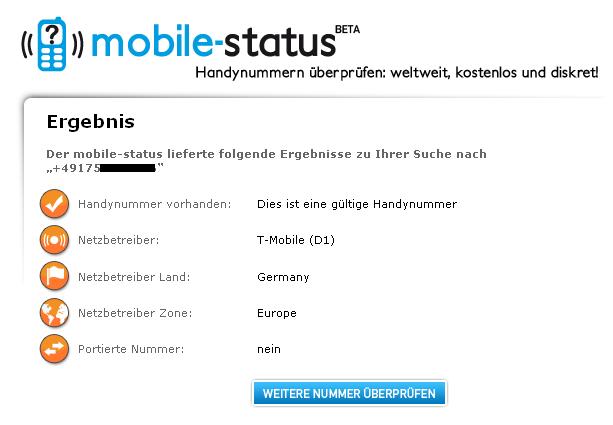 netzinfos zu handynummern abfragen