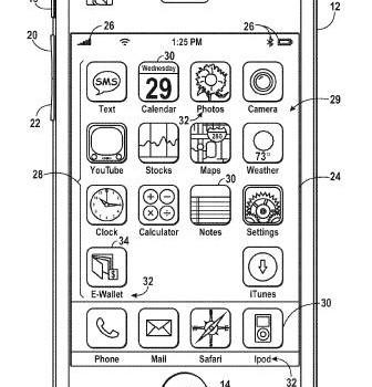 Apple Patent für ein e-wallet. Bild: USPTO