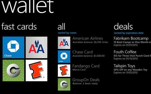 c Microsoft Windows Phone Wallet Card