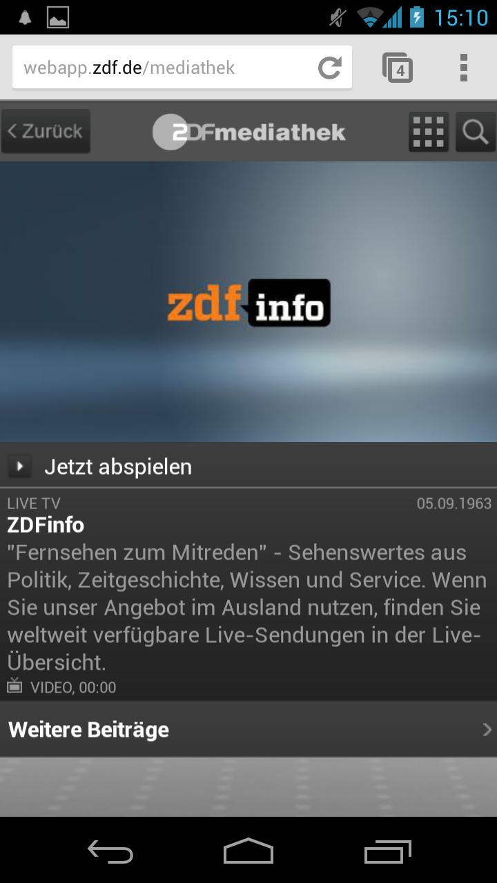 13.02.13 - ZDF Livestream Android