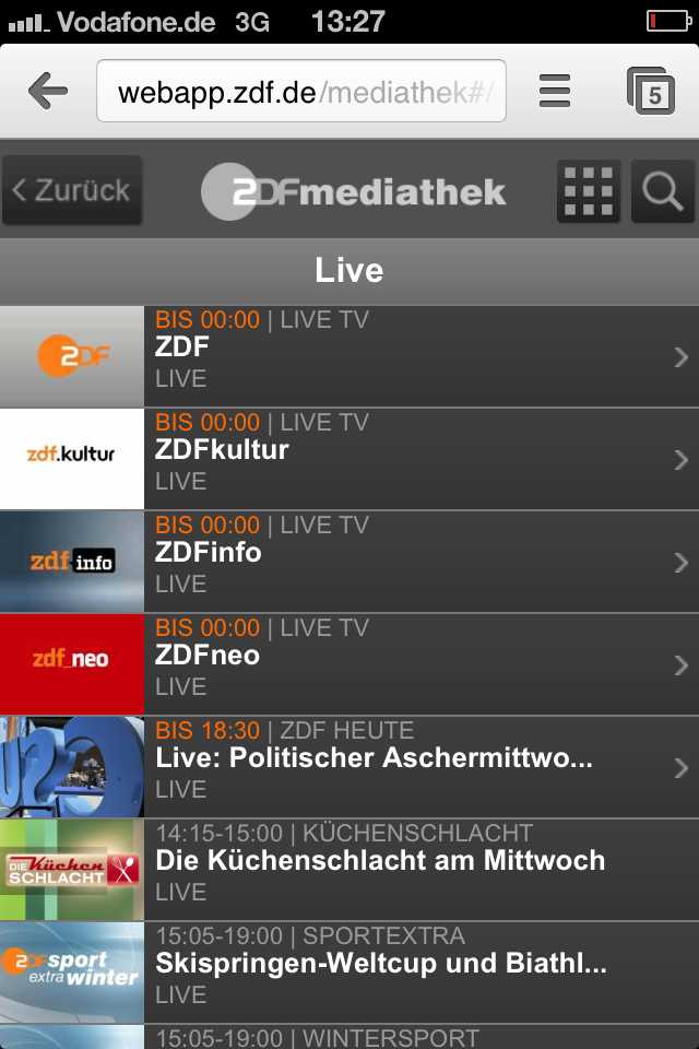 ZDF Livestream Android