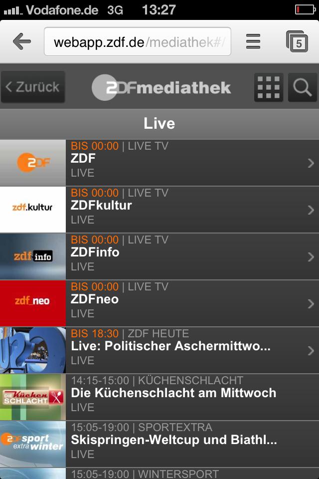 ZDF Livestream Android