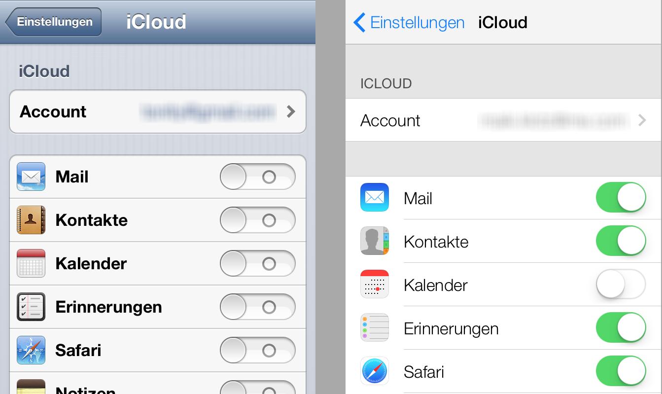 iOS 6 vs. iOS 7