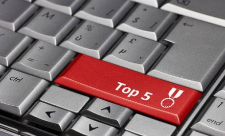 Computer Key Top 5 via Shutterstock