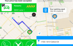 Screenshot der MonkeyParking App