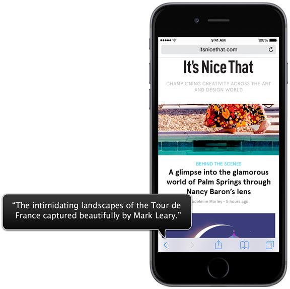 VoiceOver für iOS; Quelle: Apple Website. https://www.apple.com/de/accessibility/ios/voiceover/