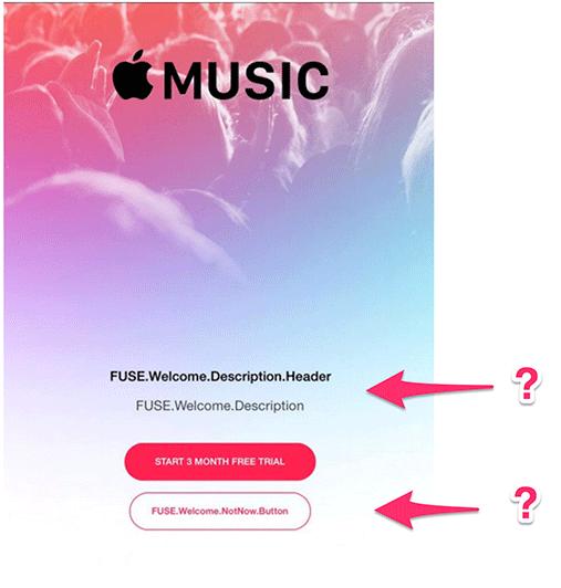 apple music welcome screen