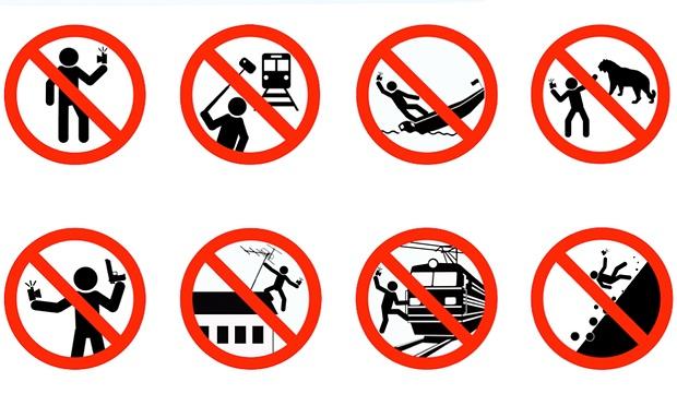 dangerours selfies