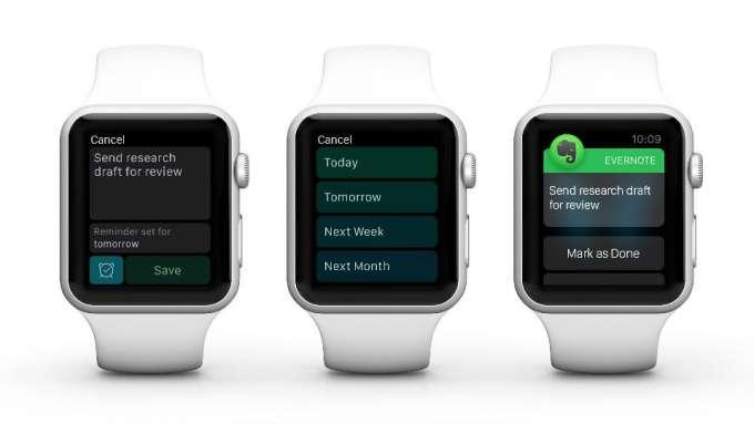 Evernote Apple Watch App