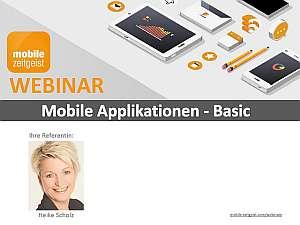 Training mobile apps