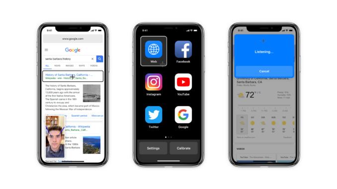 Mittels der Hawkeye App lässt sich das iPhone per Blickkontakt steuern. Die Zukunft der Bedienungssteuerung?